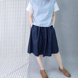 hikidashi double-sided wear round skirt - ultramarine