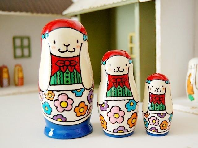 Matryoshka * Little Red Riding Hood * white rabbit