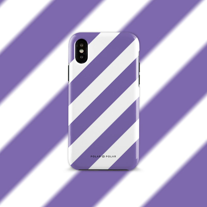 Polar Polar Purple Slash iPhone Tough Case (Dual-layer)