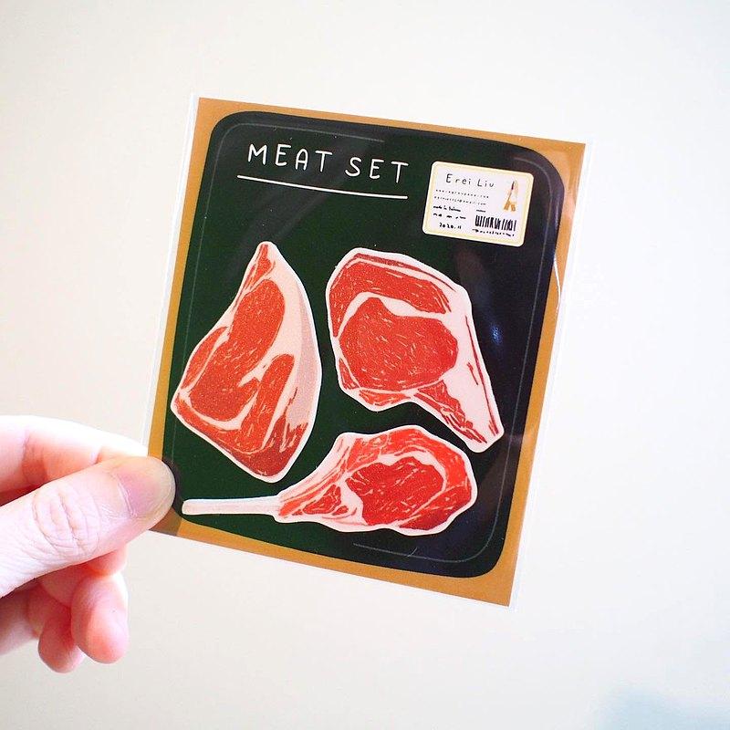 E*group  E rei 肉插畫 PVC防水貼紙 造型貼紙 貼紙包
