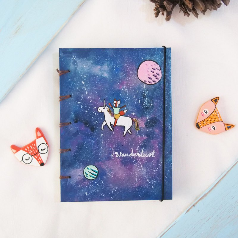 I walk in the snow., Notebook Painting  Handmadenotebook Diary Journal  筆記本