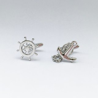 Ocean Ship Helm and Anchor Cufflinks Helm and Anchor Cufflink