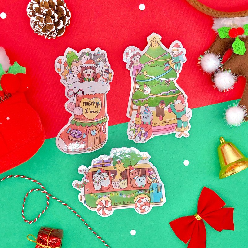 Sweet Secret Christmas Galaxy Stickers / 3 Into
