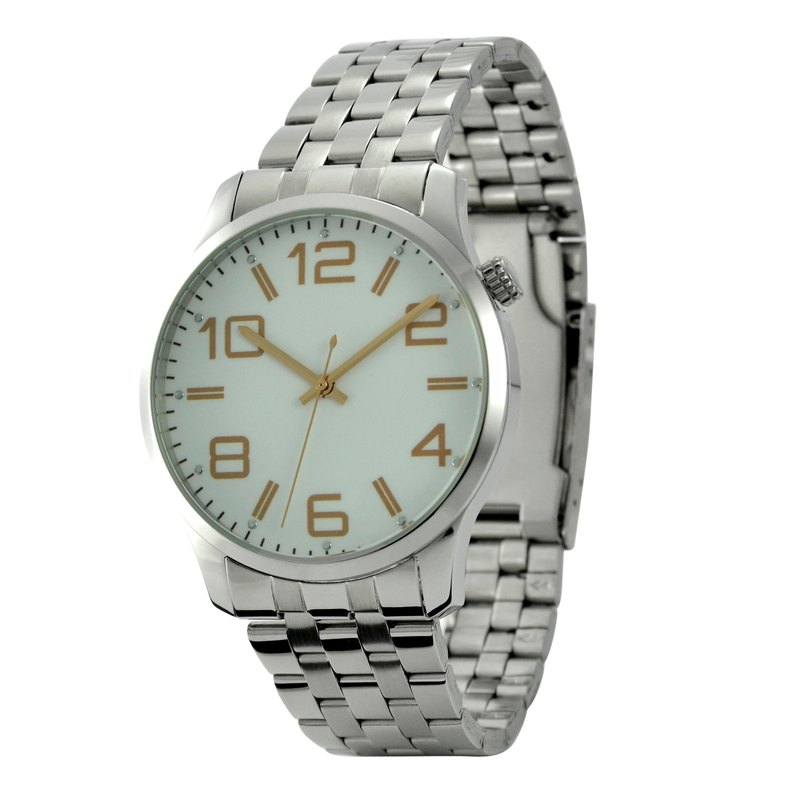 Minimalist Big Index Watch with Metal Band - Big Size - Free shipping worldwide