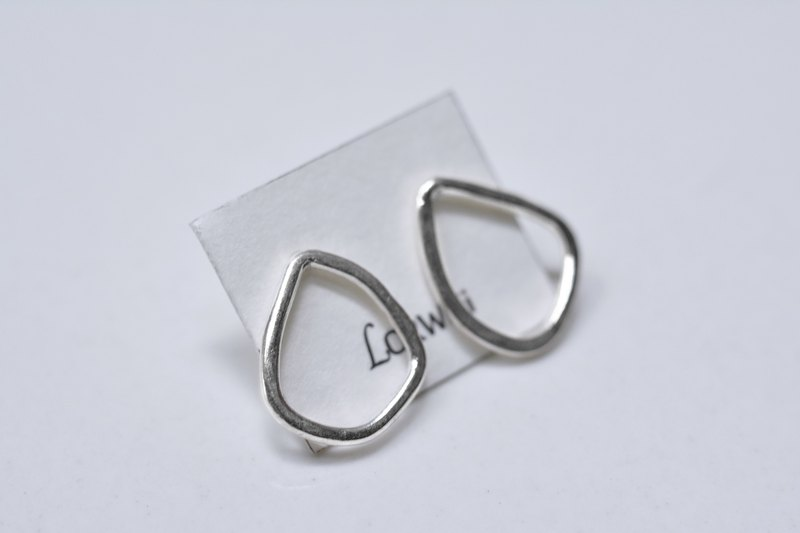 Multi-angle sterling silver earrings