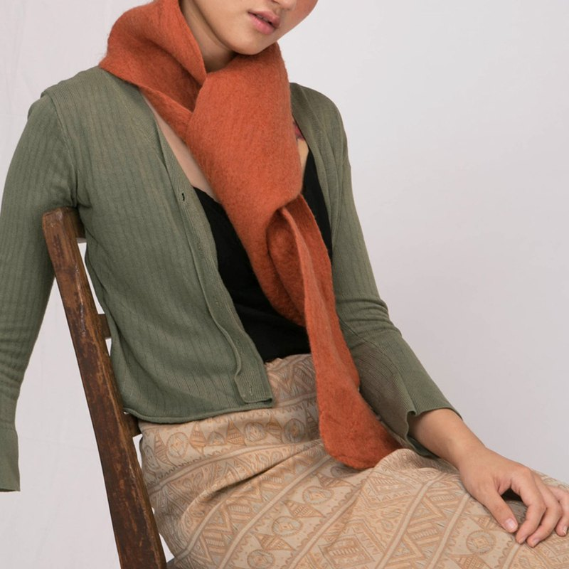 轲 artificial spring, autumn and winter handmade pure wool scarf Japanese literary bib unisex fashion solid color simple