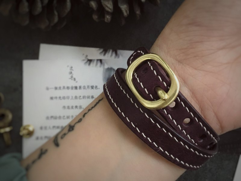 Handmade cowhide couple bracelet bracelet rope bracelet color style can be customized and customized lettering gift