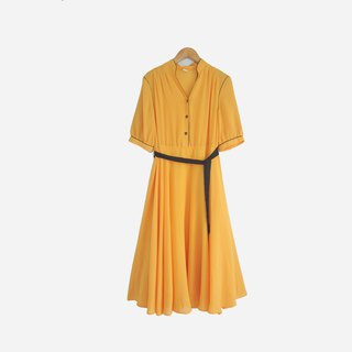 Dislocated vintage / chiffon short-sleeved dress no.870 vintage