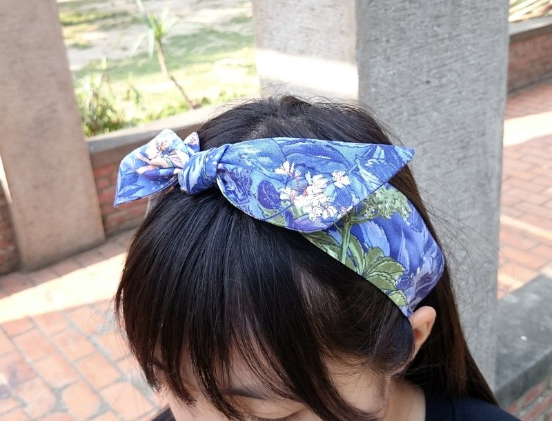 Flower Elves French-style bandage elastic hairband hairband*SK*