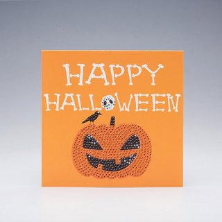 [] GFSD Rhinestone Collectibles - Hand Halloween Card