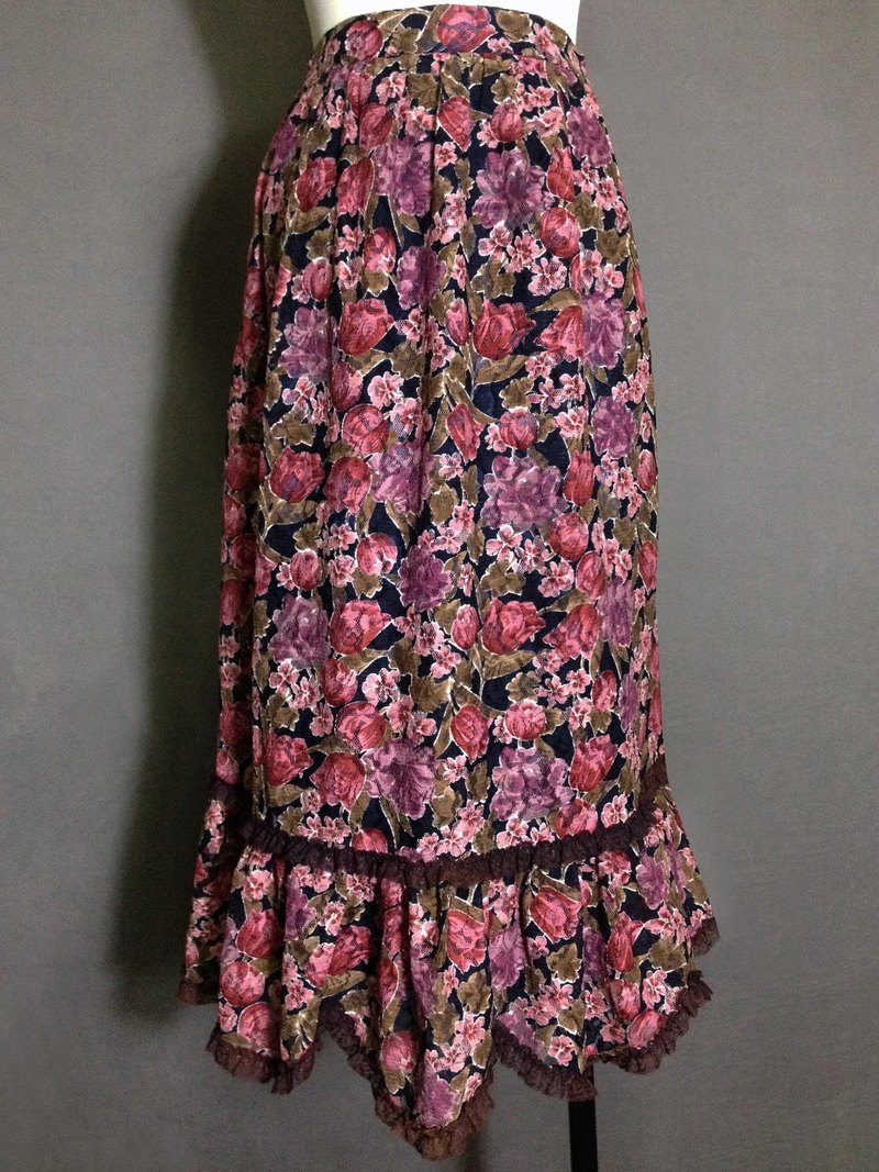 When vintage [antique dress / Nippon Flower Duolei Si antique dress] abroad back VINTAGE