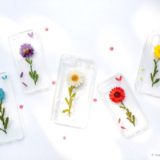 简约的菊 Handpressed Flower Phone Case