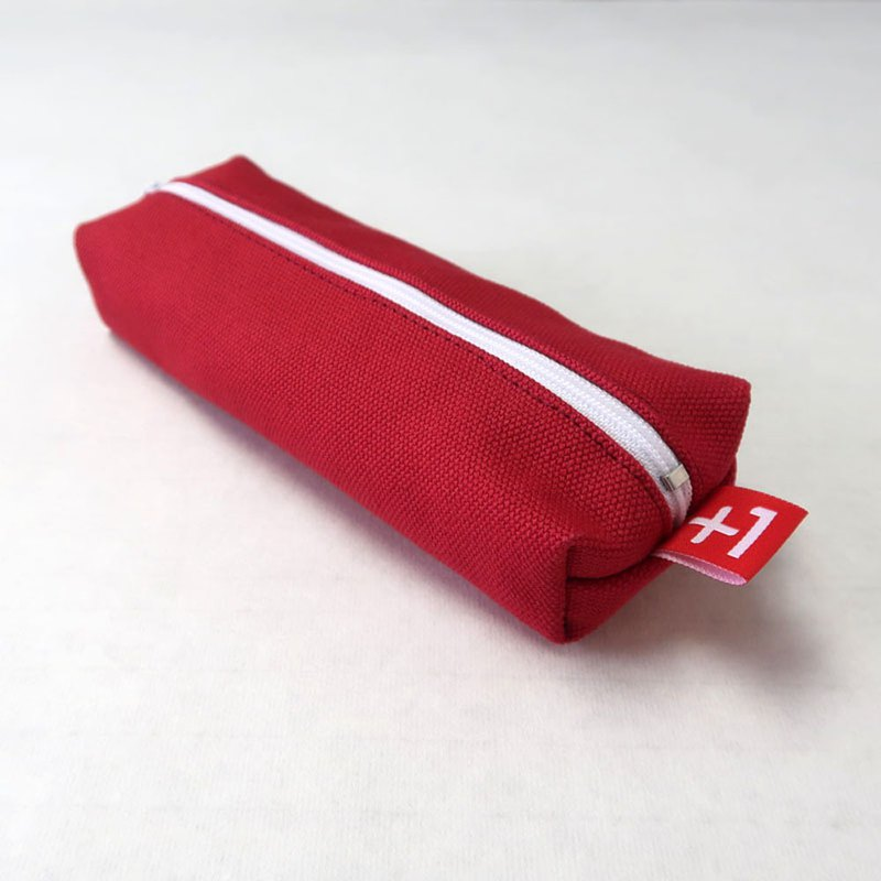 Plus 1 Canvas Square Pencil Case