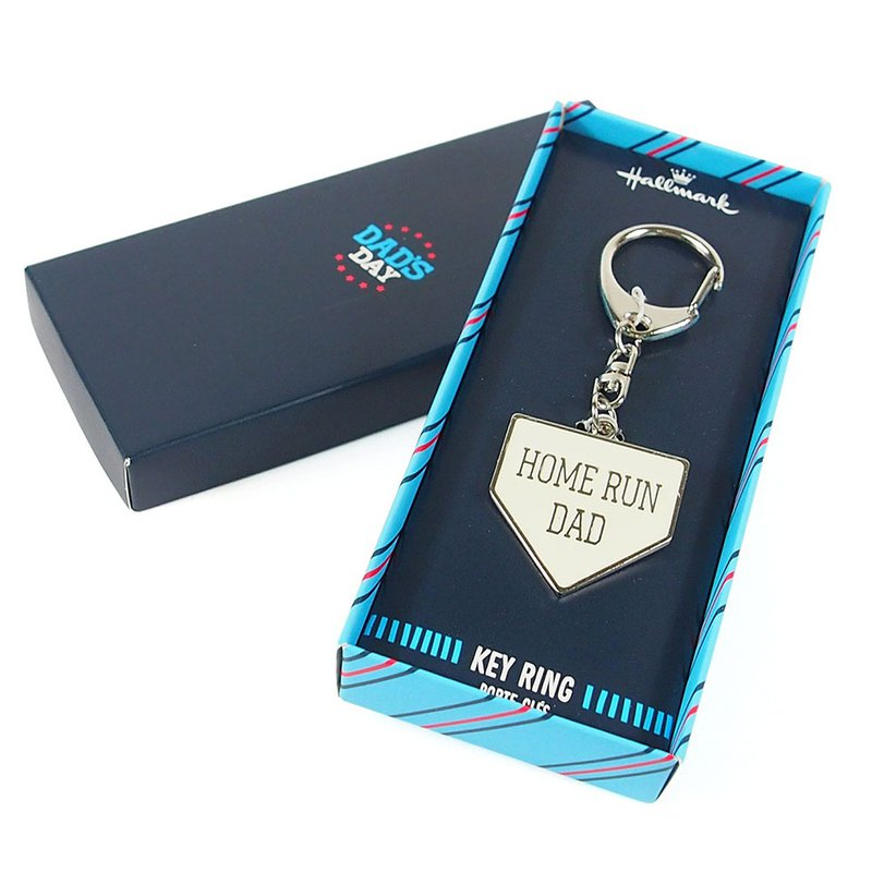 Home plate shape key ring [Hallmark-Gift Father Series]