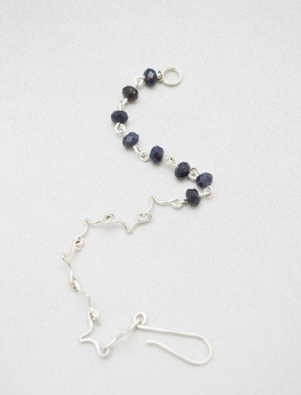 折疊系列-10號‧藍寶石‧純銀手鍊