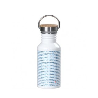 British import Wild and Wolf stainless steel accompanying kettle / travel bottle (raindrop pattern) spot