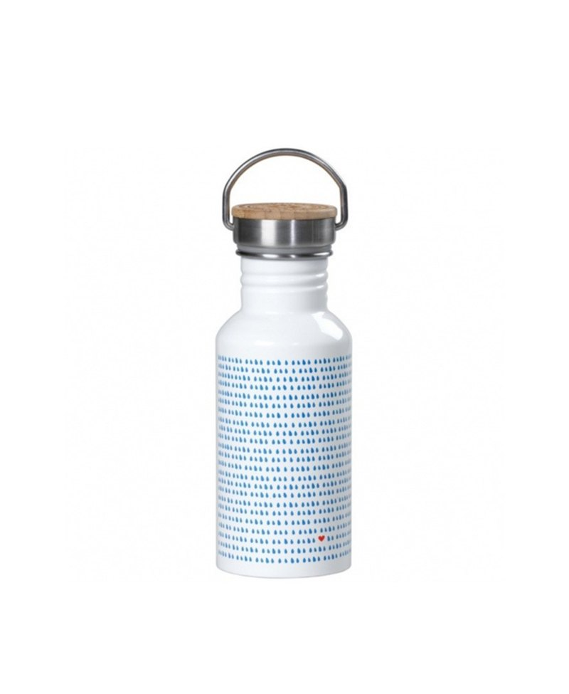 British imports Wild and Wolf stainless steel accompanying water bottle/travel water bottle (raindrop pattern) spot
