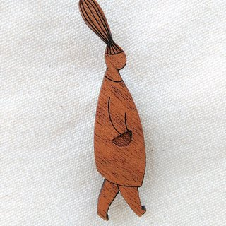 Walking · mahogany brooch