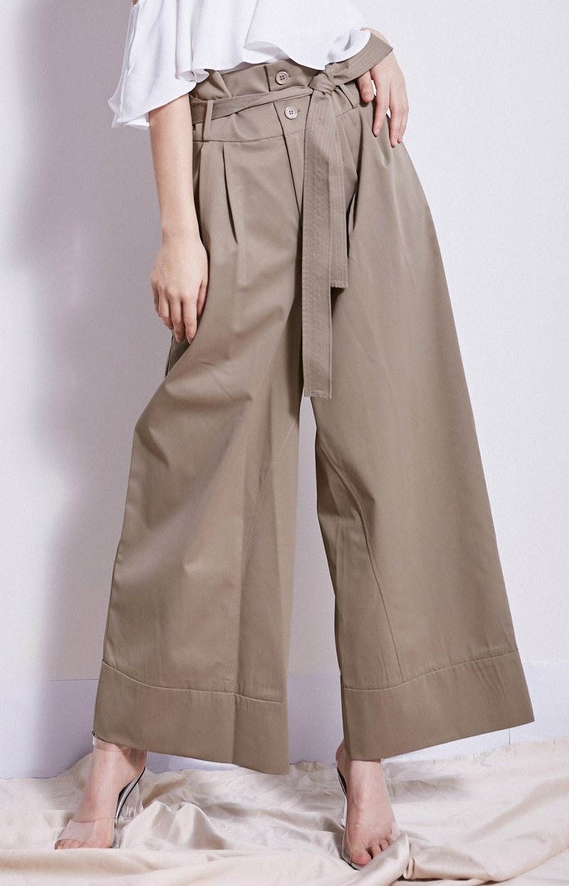 SXXXX3 original design women's high waist wide leg pants casual pants waist straps trousers was thin commuter Korean summer