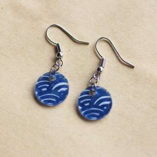 Qinghai wave - pin clip earrings