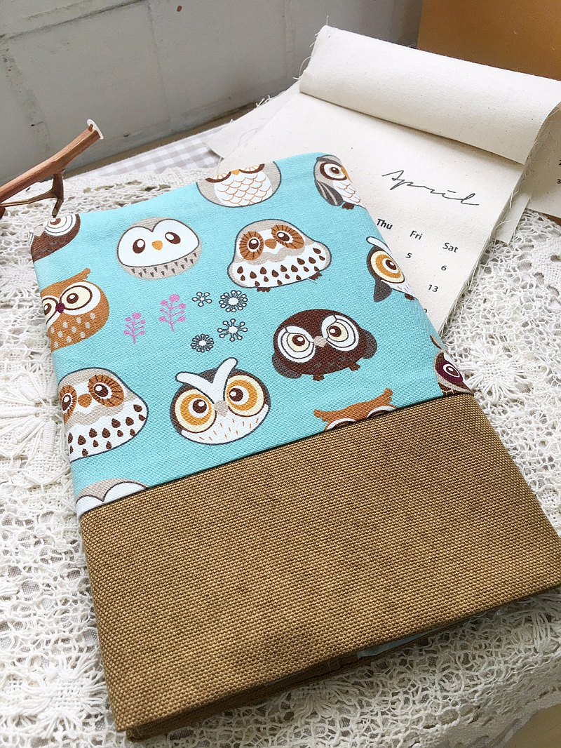 [Good day by hand] owl cloth book cover / cloth book cover adjustable