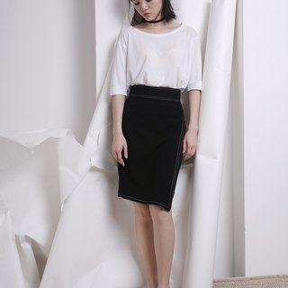 komorebi wood leakage Day original design autumn and winter skirt irregular design