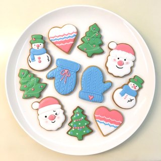 Christmas Warm Heart Sugar Cookies 10 Piece Set