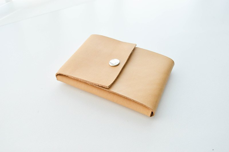 Envelop Fold Leather Wallet in Tan Color,Classic Look,Fast Access,Personalized