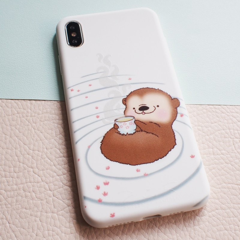 iPhone compatible smartphone case, otter relieved breath, iphone 12/12pro, 12mini, 12 pro max, 11, Xs