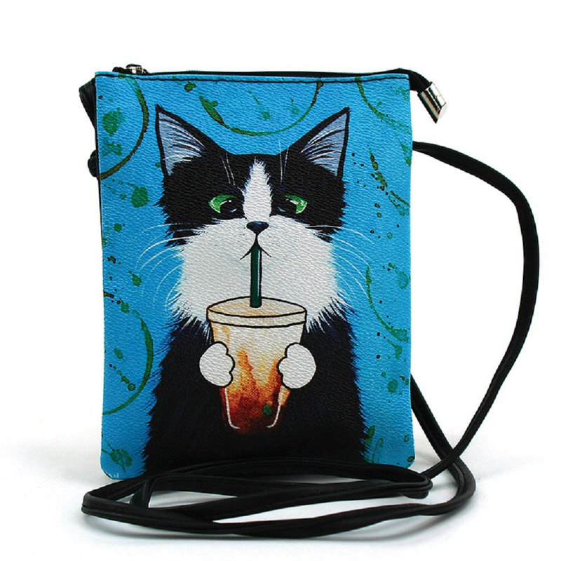 Caffeine Addicted Kitty Crossbody Bag