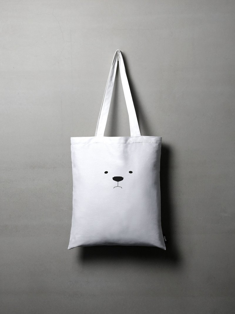 Mr. White Polar Bear Tote Bag