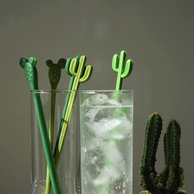 QUALY Cactus Stirrer (6 in a group)