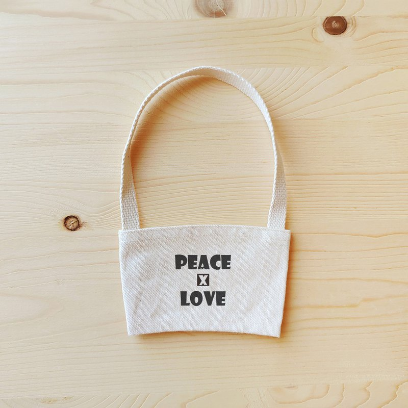 Positive energy drink bag _peace and love