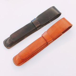 [La Fede] vegetable tanned leather pen cover can be printed