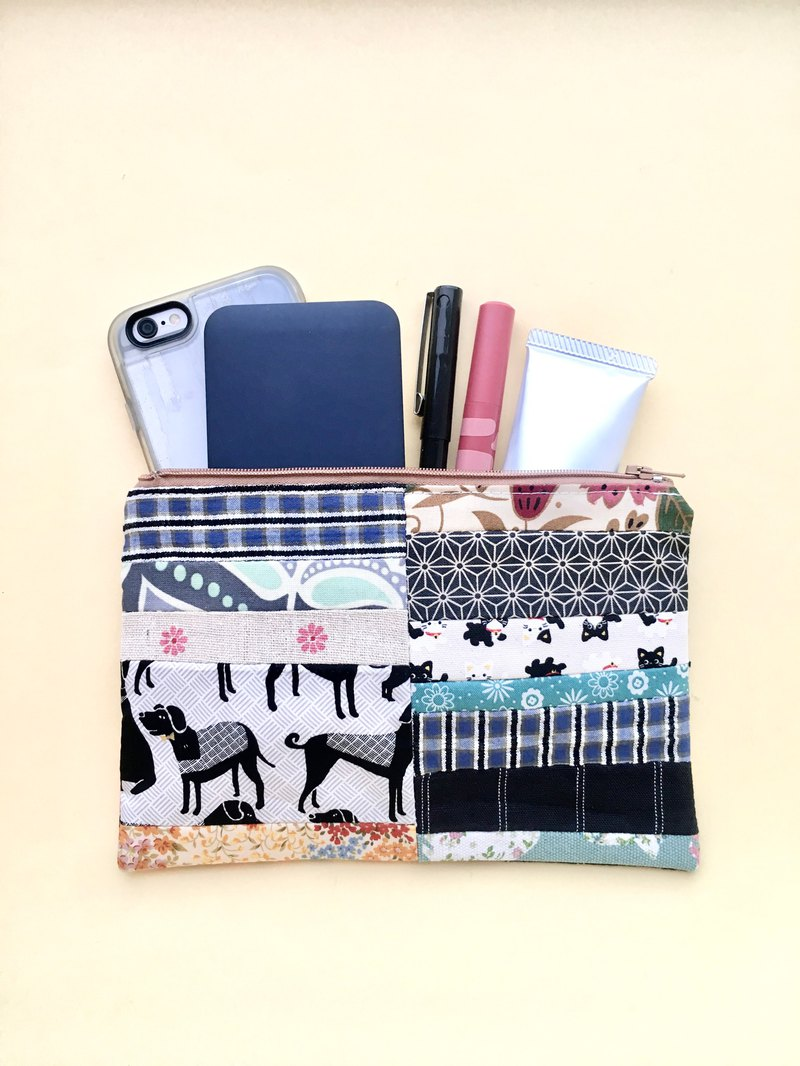 Zipper pouch makeup bag (Button cube insert)