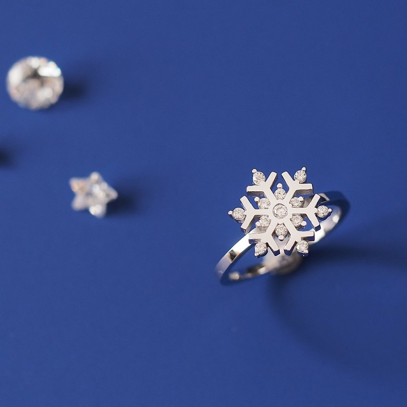 Snow crystal ring rings Silver 925