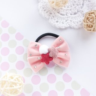 Pink velvet star hair ring children's headdress