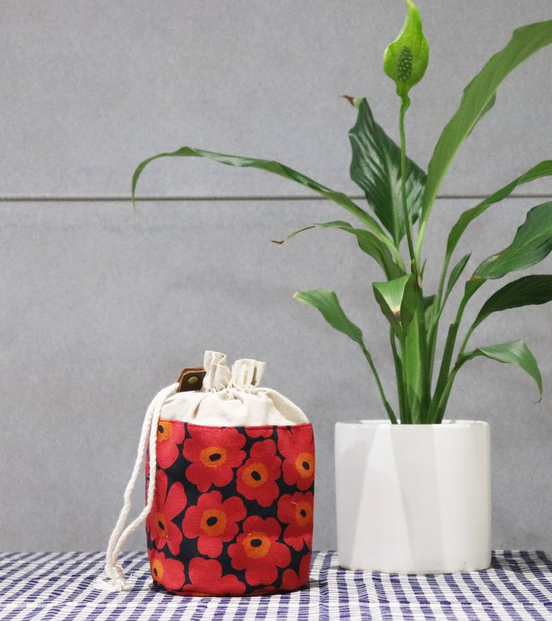 Gift preferred small storage ~ flower bouquet pocket (red flower)