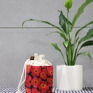 Small items storage ~ flower bouquet pocket (red flower)