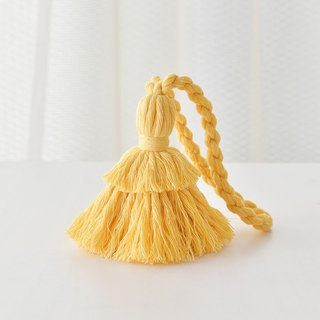 "Tassel key chain ""Hinoki yellow"""