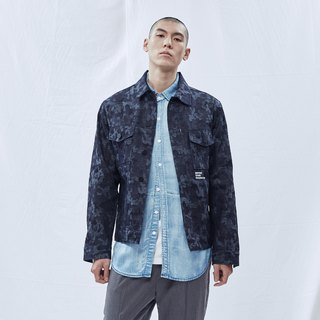 DYCTEAM -Camouflage Pattern Jacket (Deep Blue)