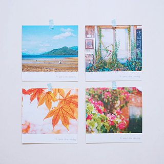 To spend time relaxing-mini card (Set of 4 pcs)