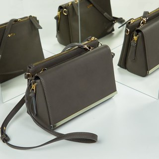 [ New Product ] Grey Color NIGHT BAG – Faux Leather Shoulder Bag Set