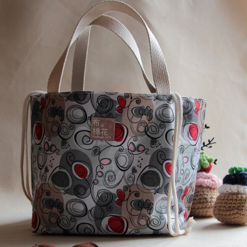 Cotton Fabric: Lunch bag, Lunch tote, Light Waterproof materials, Camping picnic