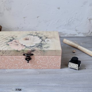 Rose totem essential oil wooden box 28 grid 15ml pen ink box jewelry box table storage box