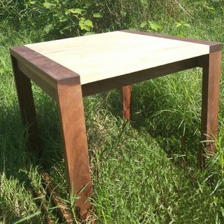 Double wooden square stool (wearing shoe chair)