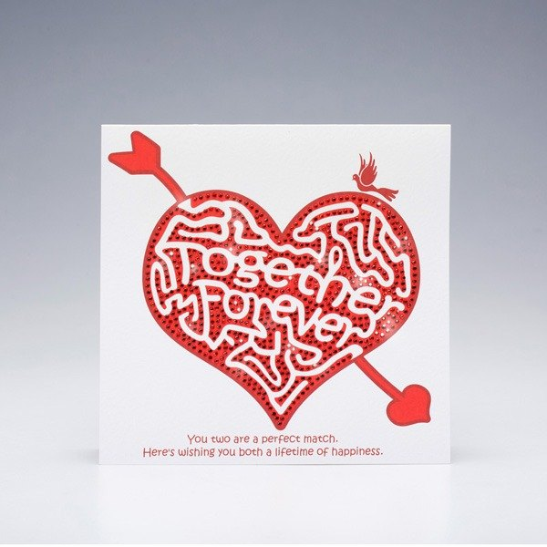 [] GFSD Rhinestone Collectibles - Hand Valentine's Day Greeting Cards - Maze