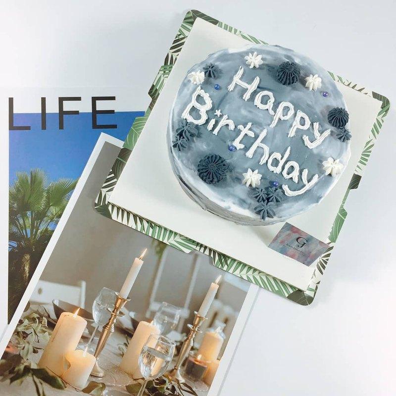 絢爛星空  生日蛋糕 客製蛋糕 4 6 8吋 限台南面交