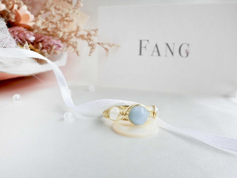 [Baroque angel] angel stone moonstone series ring