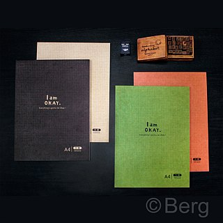 Burgess stationery xIamOkay [A4 grid function notebook] four colors
